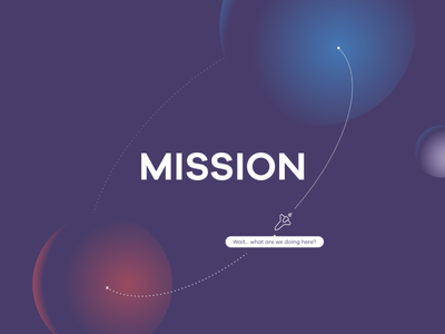 Mission Slide 2d keynote rocket mars earth illustration slide mission