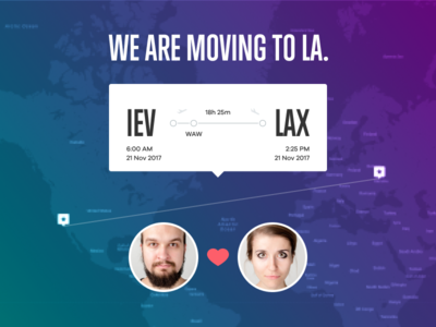 We are moving to LA