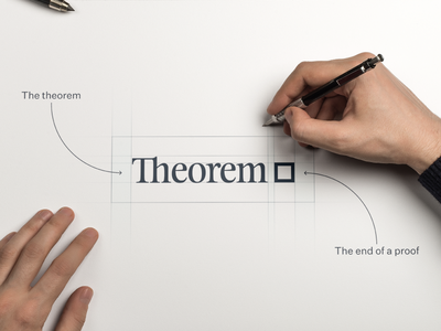 We are Theorem logo design serif font wordmark logo logotype rebranding branding brand theorem