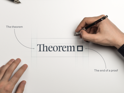 We are Theorem logo design serif font wordmark logo logotype rebranding branding brand theorem