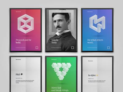 Theorem posters branding typography poster illistration design logo logotype rebranding theorem