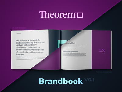 Sneak peek into Theorem brand book branding design print guide typography brandbook style logotype logo rebrand theorem