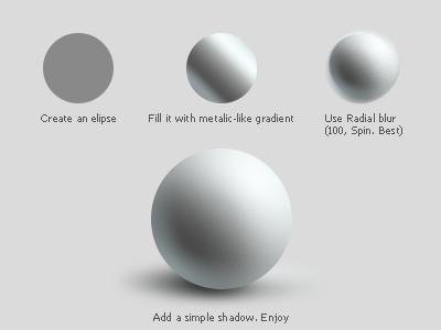Sphere tutorial. Photoshop. sphere tutorial