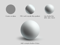 Sphere tutorial. Photoshop.