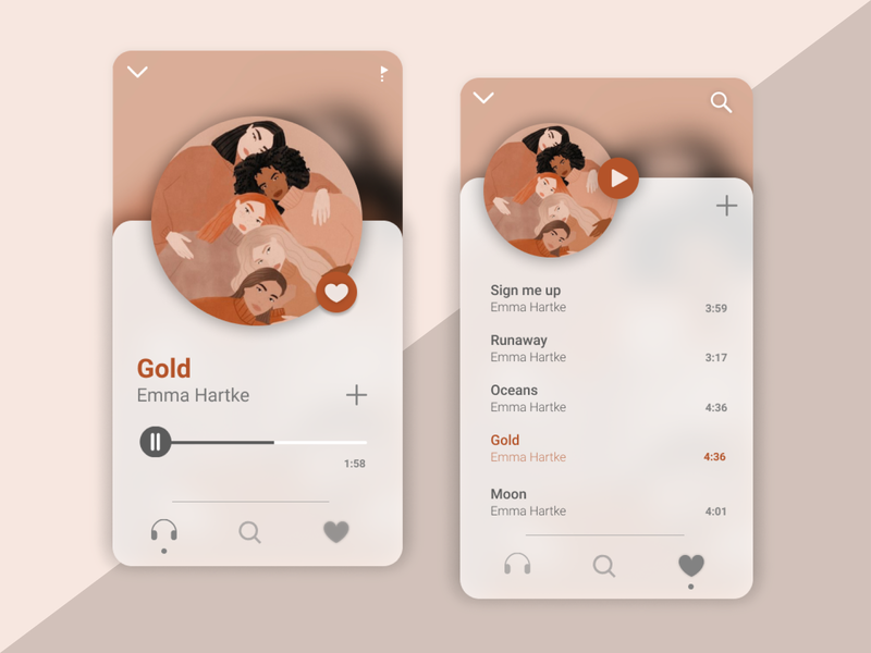 Music Player design ui design ui app