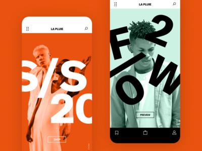 La Pluie graphic abstract appdesign clean adobexd french marketplace ecommerce highend designer fashion portfolio interface minimal app ux design ui design ux ui