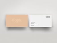 Moire Business Cards