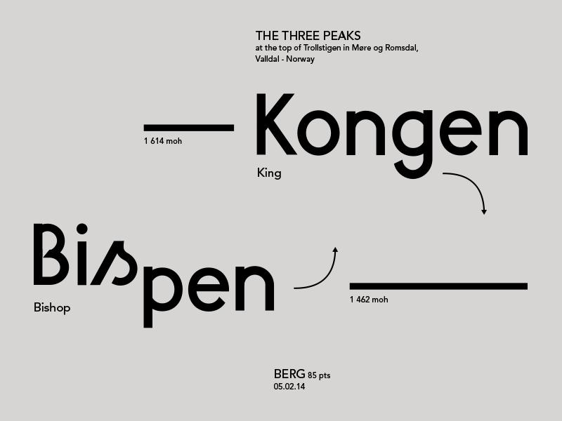 Berg Font typography font