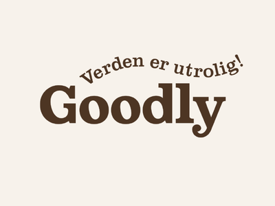 Goodly packaging branding typography logo