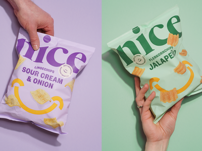 Nice Chips chips packaging branding typography