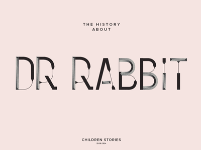 Dr Rabbit poster illustration typography