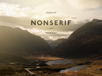 Nonserif profile logo typography print photo