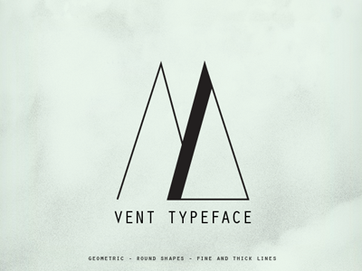 Vent Typeface typography typeface poster print