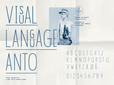 Anto Typeface typography profile symbol branding print logo font