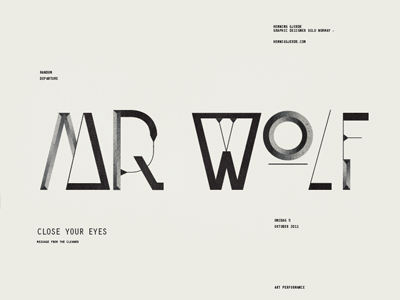 Mr Wolf typography poster