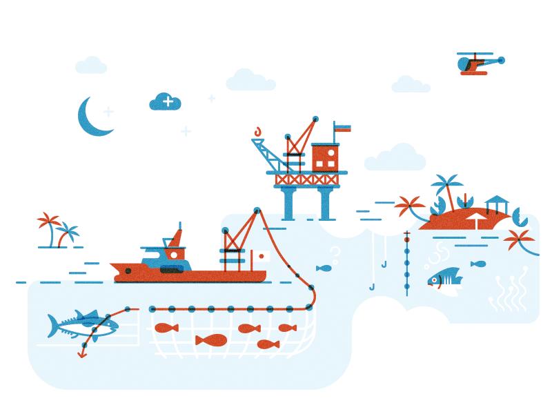 Law Of The Sea 2 magazine infographics illustration