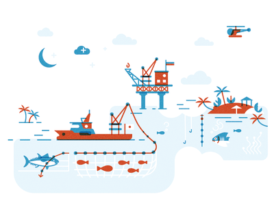 Law Of The Sea 2 magazine infographics illustration