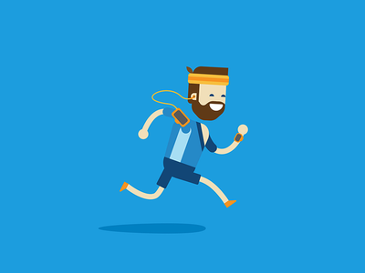 Telenor - runner profile illustration