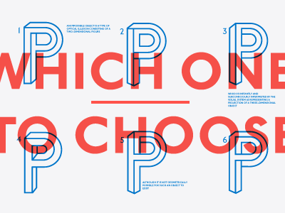 The P typography