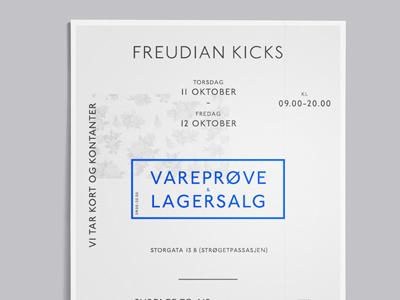 Freudian Kicks typography print poster