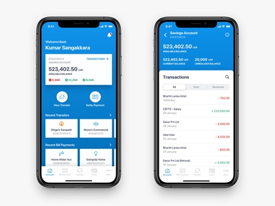 Commercial Bank - Redesign Of An iOS Banking App iphone mobile ui ux app design ios banking banking app bank app