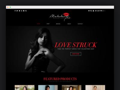 Malabach - Fashion Based E-commerce Website fashion red black dark ecommerce website sans serif malabach web ux ui valentines