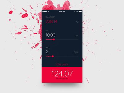 Daily UI 004 - Calculator flat 004 dailyui uiux ux ui app tip black dark red calculator