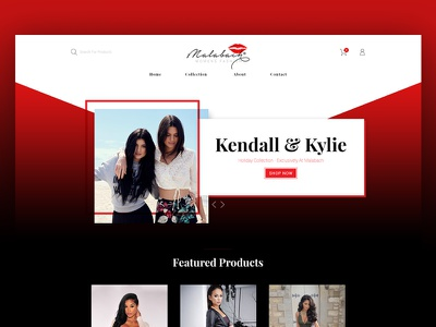 Malabach - Fashion Based E-Commerce Website (Rev 2) template fashion design ux ui webdesign web dark ecommerce website typography app