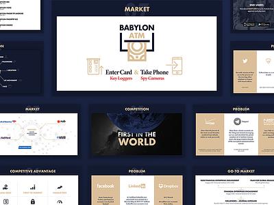 Business Presentation - Keynote / Powerpoint Design presentation keynote powerpoint infographic colors chart business blue flat ui typography design