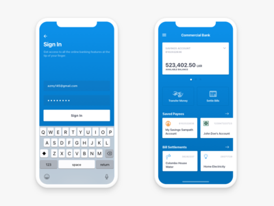 Mobile Banking App - iPhone X ux ui mobile ios iphone blue banking finance clean app