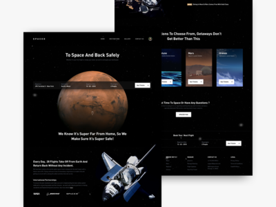 SPACED - Homepage Full View ui challenge homepage spaced spacedchallenge landing space design dark