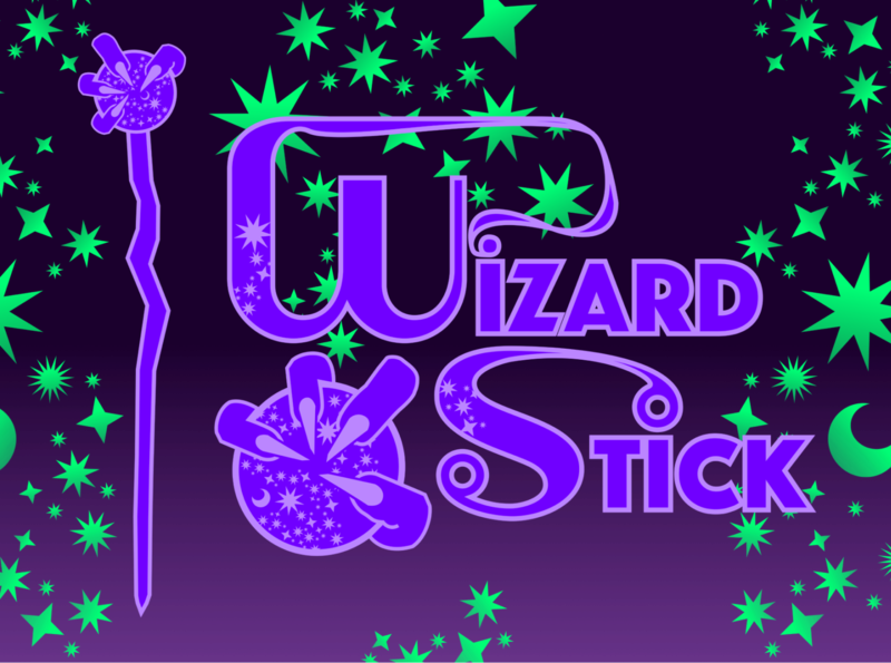 WIZARD STICK CARD wizard stick crystal ball wizards illustration logo vector icons