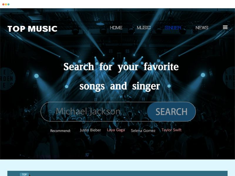 WEB singer design