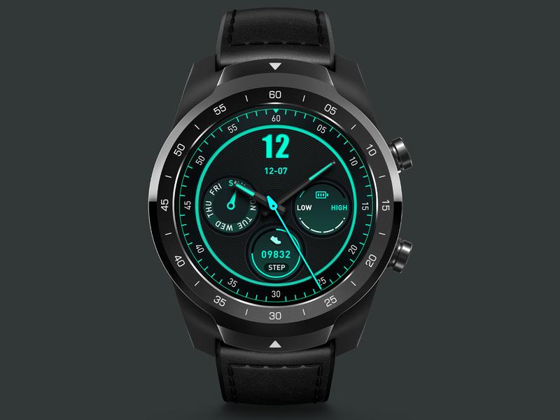 Fluorescence classwatch illustration smartwatch watchface