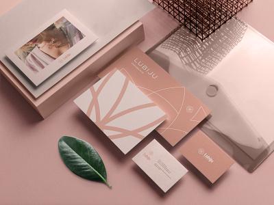 Lubiju Brand Identity flower logo personal brand design identy branding design brand