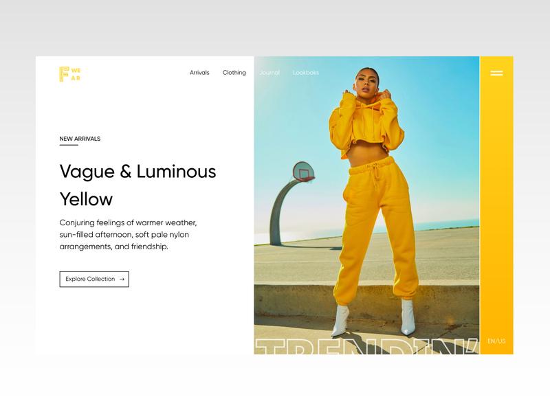 F WEAR - Minimalist Fashion Store branding web uxdesign design web design typography ux ui minimal fashionstore fashion brand fashion