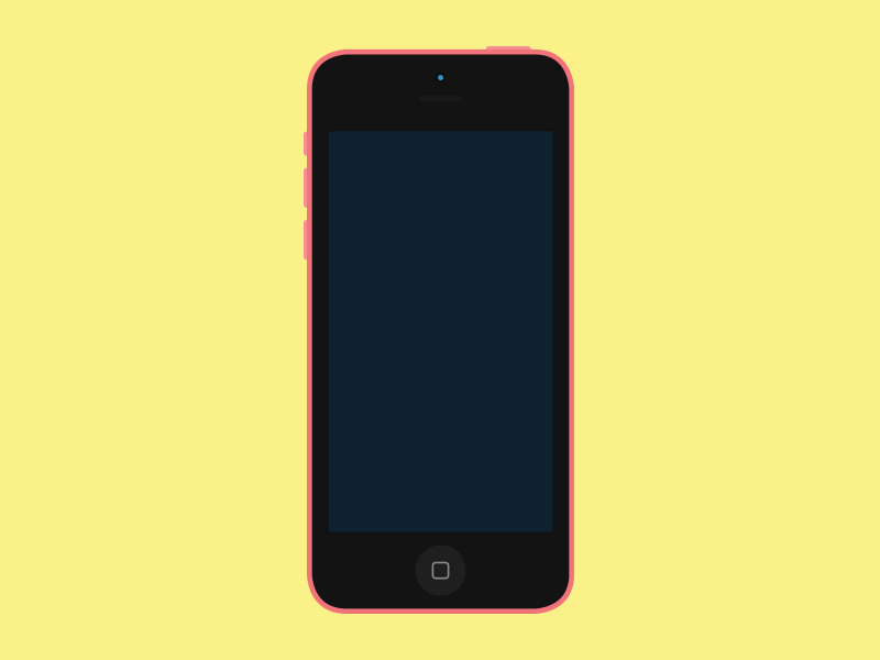 Flat iPhone 5c Mockup iphone flat mockup color iphone 5c color versions