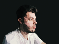 Low Poly Self Portrait lowpoly selfie illustrator photoshop polygon geometric poly