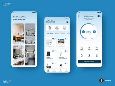 Smarthome Mobile Application smarthome smarthomeapps uiux mobileinterface ui userinterface mobileapplication