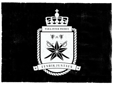 Fenrikjuntaen army badge decoration swords lion