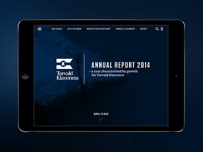 Klaveness annual report annual report editoral typography tungsten tiempos