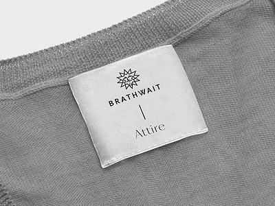 Brathwait tag collection typography mark