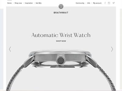 Brathwait - homepage imagery typography website brathwait