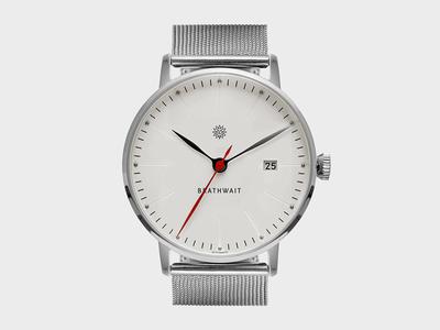 Brathwait watch vinter markers crown watch typography