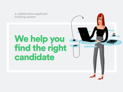 Candidate search illustration color typography design brand research