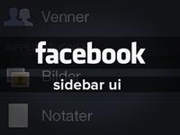 UI - Facebook sidebar interface - free PSD