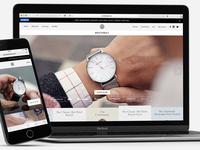 Brathwait – frontpage shopify commerce marketing frontpage test ab