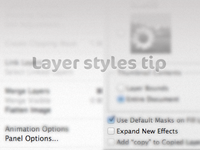 Pro Tip 4: Layer styles panel
