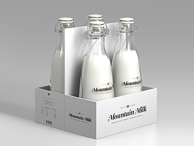 Tine – Mountain Milk packaging leitura milk tine exams study typograhpy swash mountain image 3d bottle