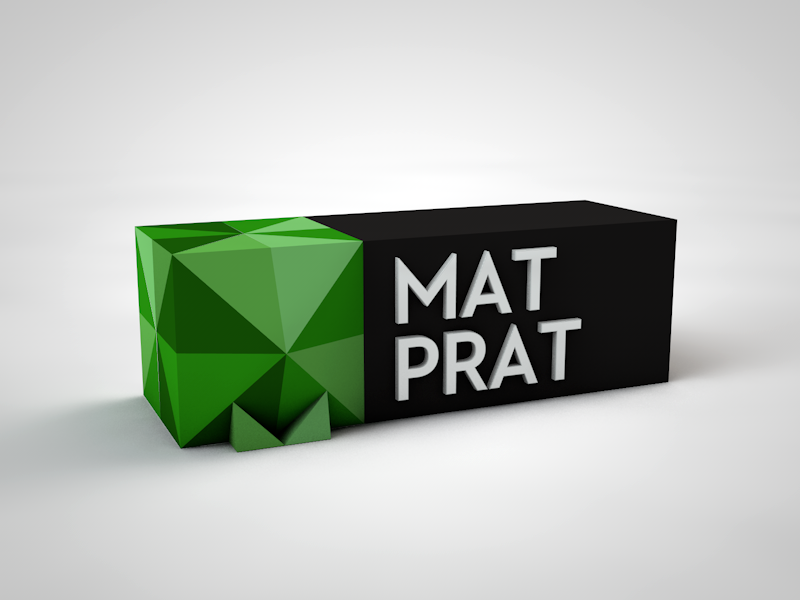 Matprat 3D c4d logo 3d colors green neutraface